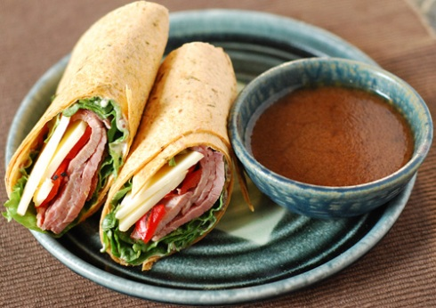Veggie and Meat Wrap